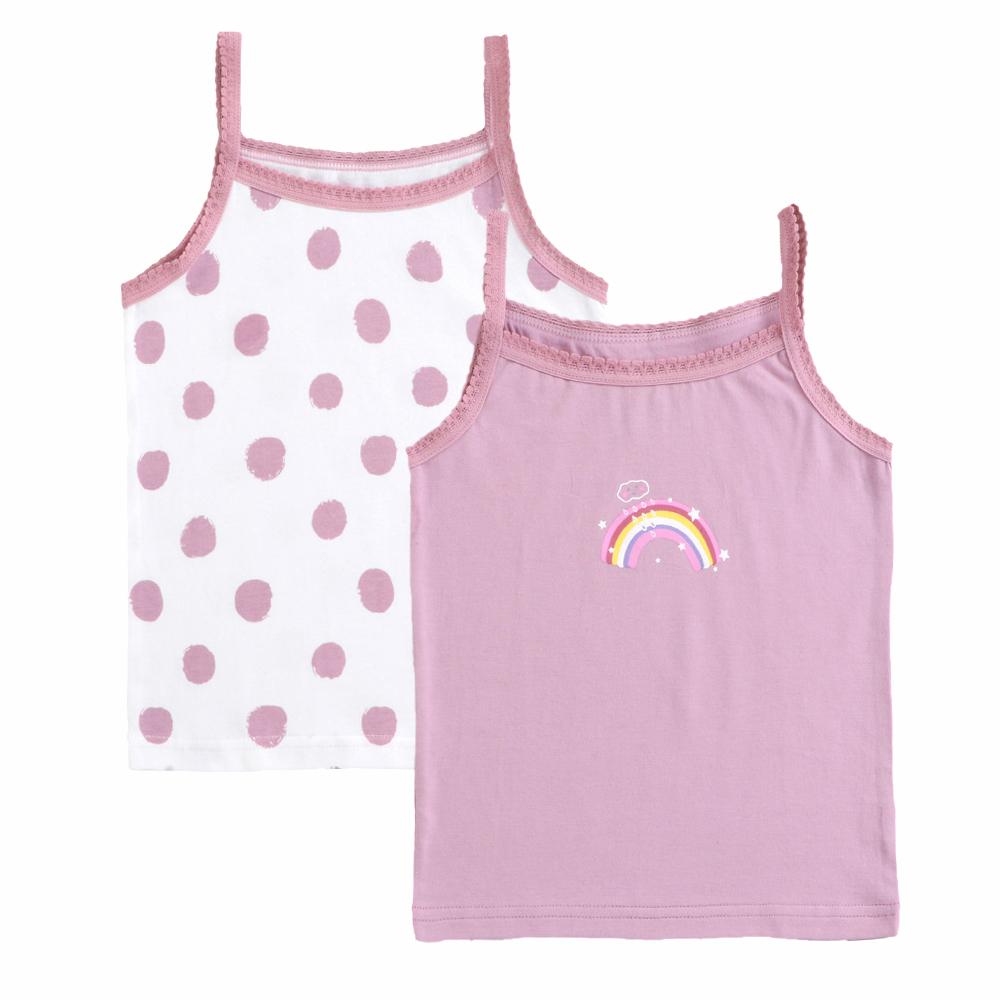 2-pack Girls Narrow Shoulder Strape Top in Purple