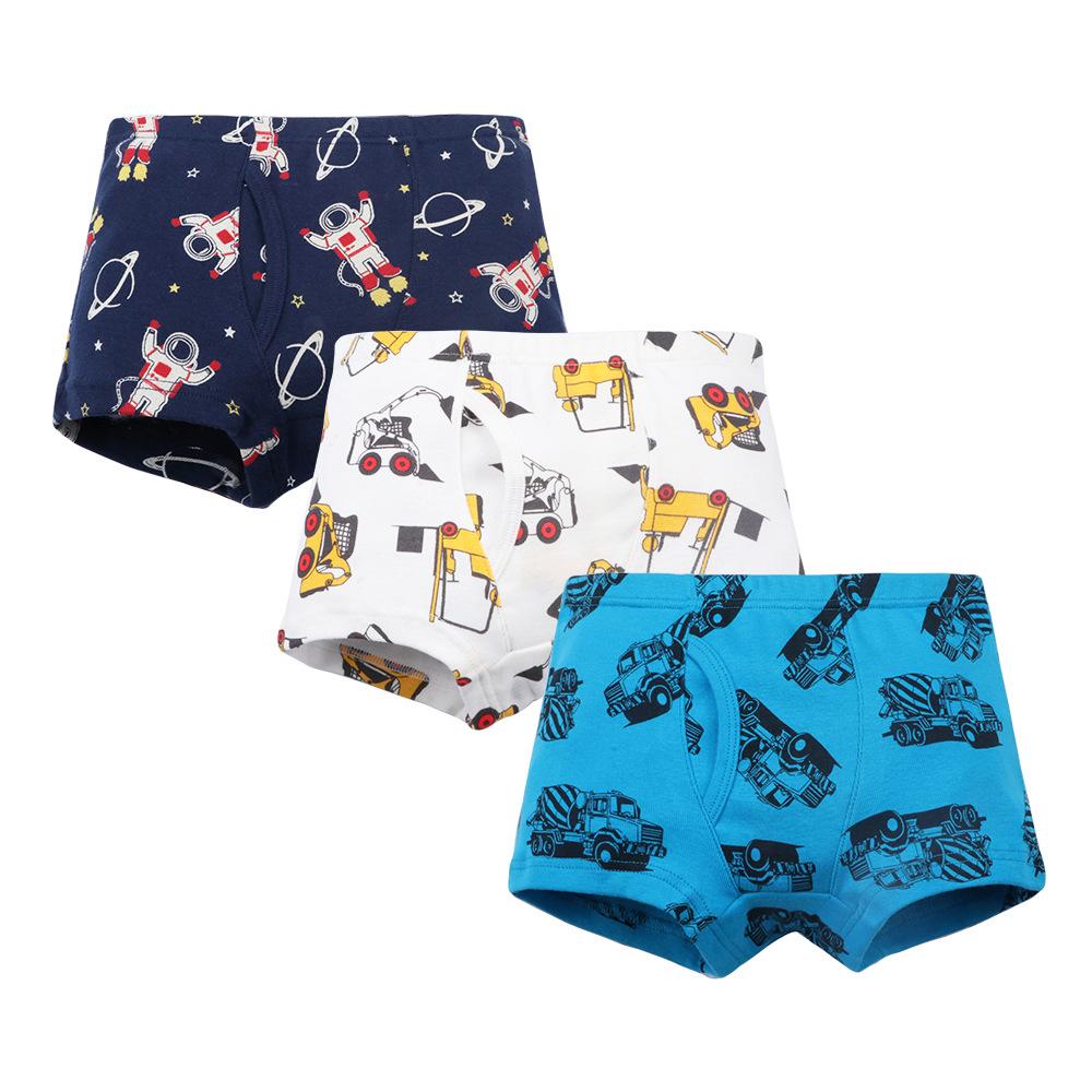 3-Pack Transportation Tools Pattern Boys Boxer Briefs