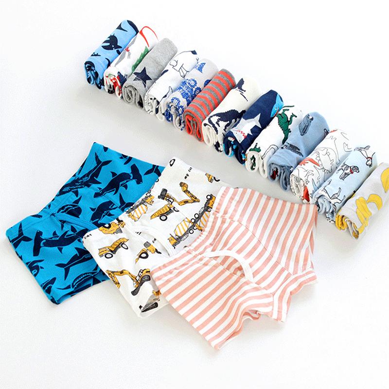 3-Pack Sea Animal Pattern Boys Boxer Briefs