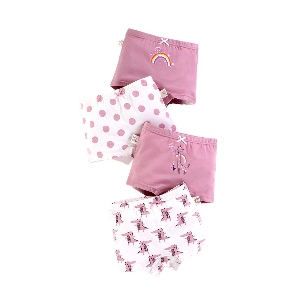 4-Pack Girls Boxer Briefs