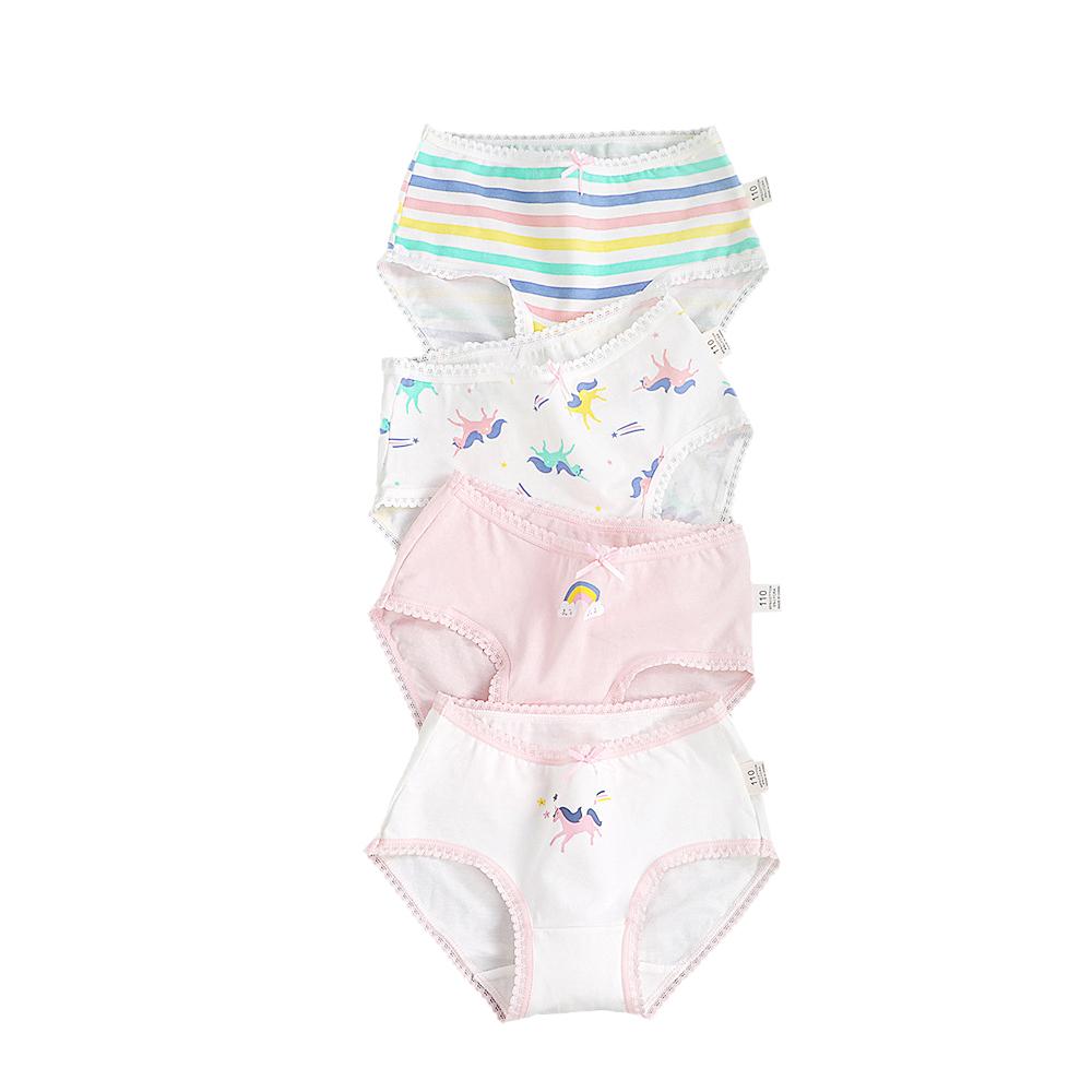 4-Pack Girls light color Briefs