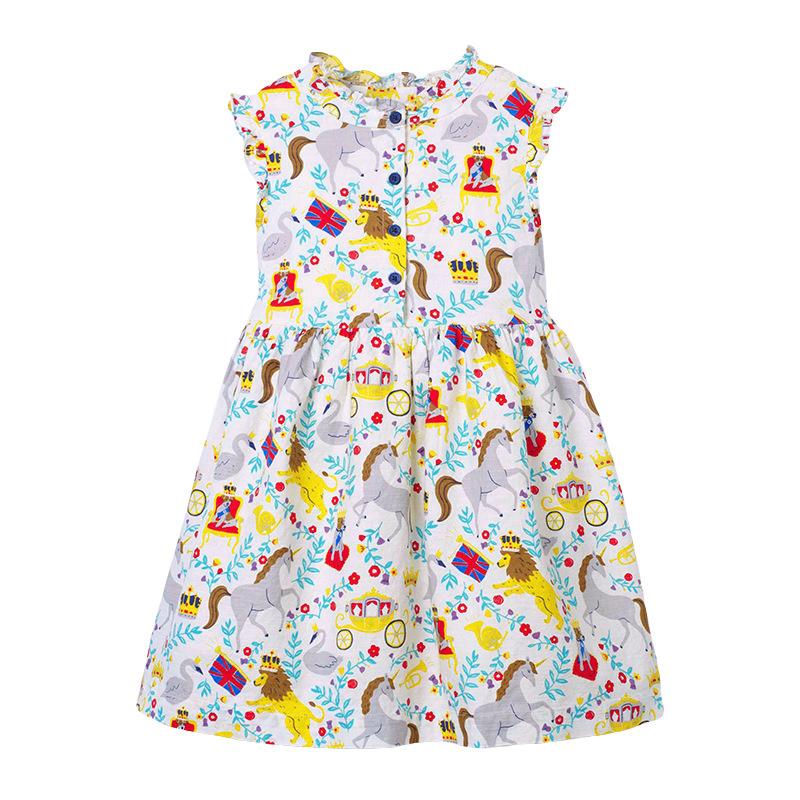 Animal World Pattern Girl Dress