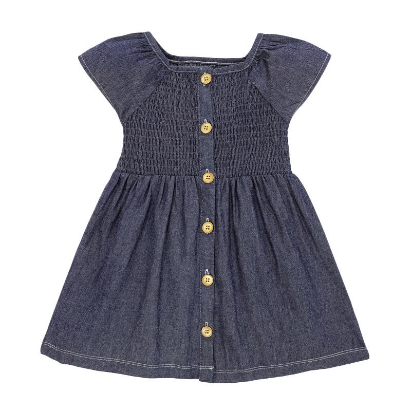 Dark Blue Denim Girl Dress