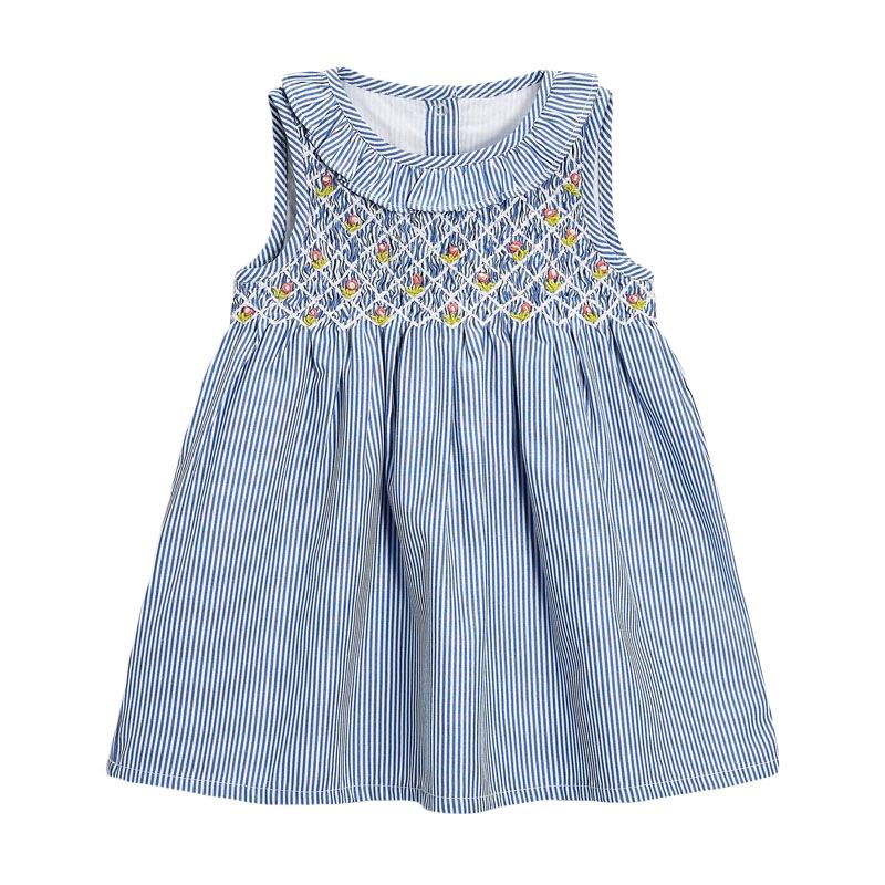 Striped Girl Dress Sleeveless Skirt Cotton Baby Girl Dress