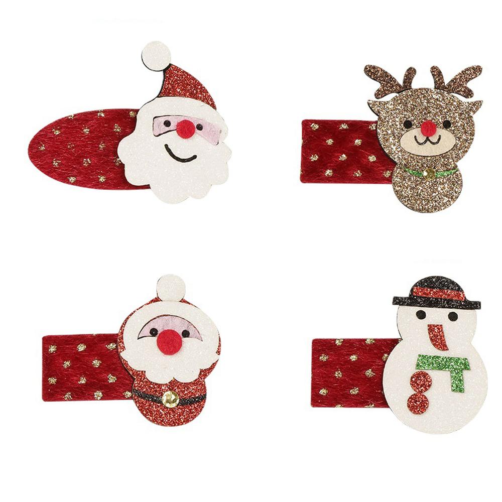 4pcs Christmas Theme Baby  Hairpin