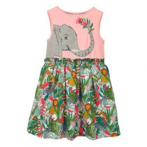 flowered baby dress short sleeves which are for baby summer wearing ,is made of cottom soft and breathable.
