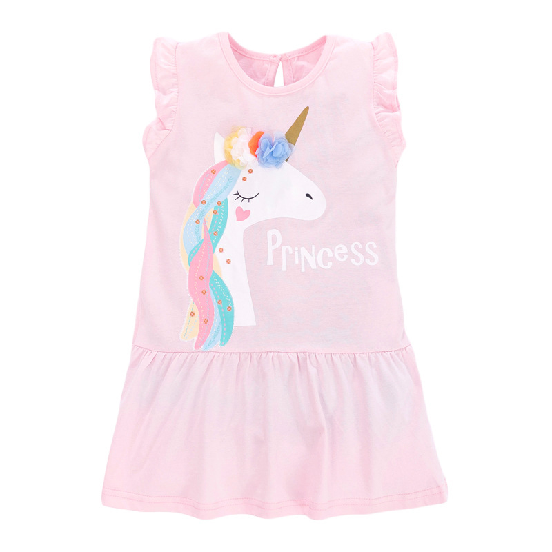 Little Pony Print Pink Girls Dress