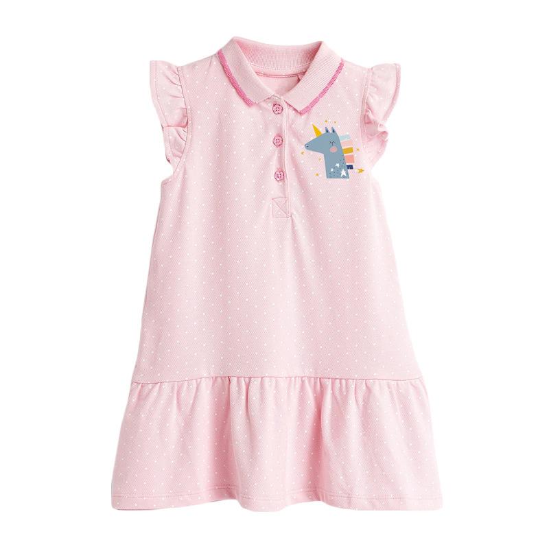 Girls Dress Summer Children's Wear Sleeveless Polo Dress