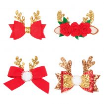 Colourful gilrs hair accessories with flower shaped  for daily use or Christmas season. As a gift for girls or baby shower