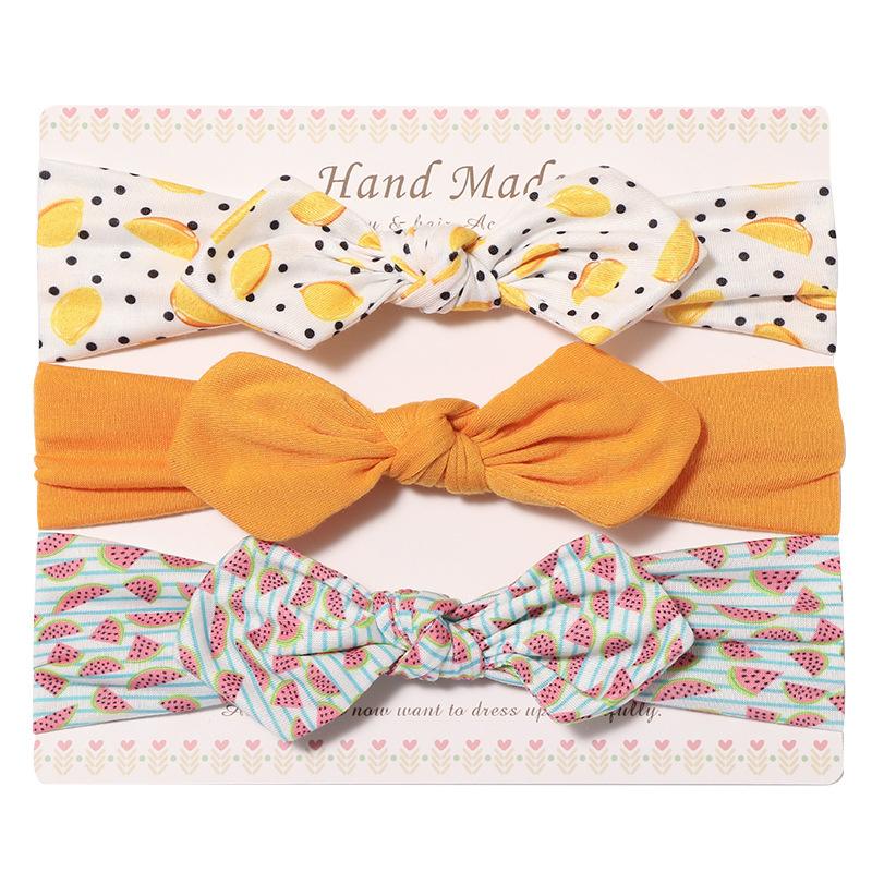 3pcs Girl Bow Knot Headband Set