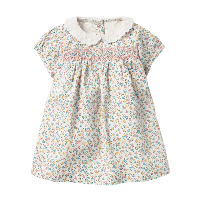 Baby Girls Floral Short Sleeve Dress