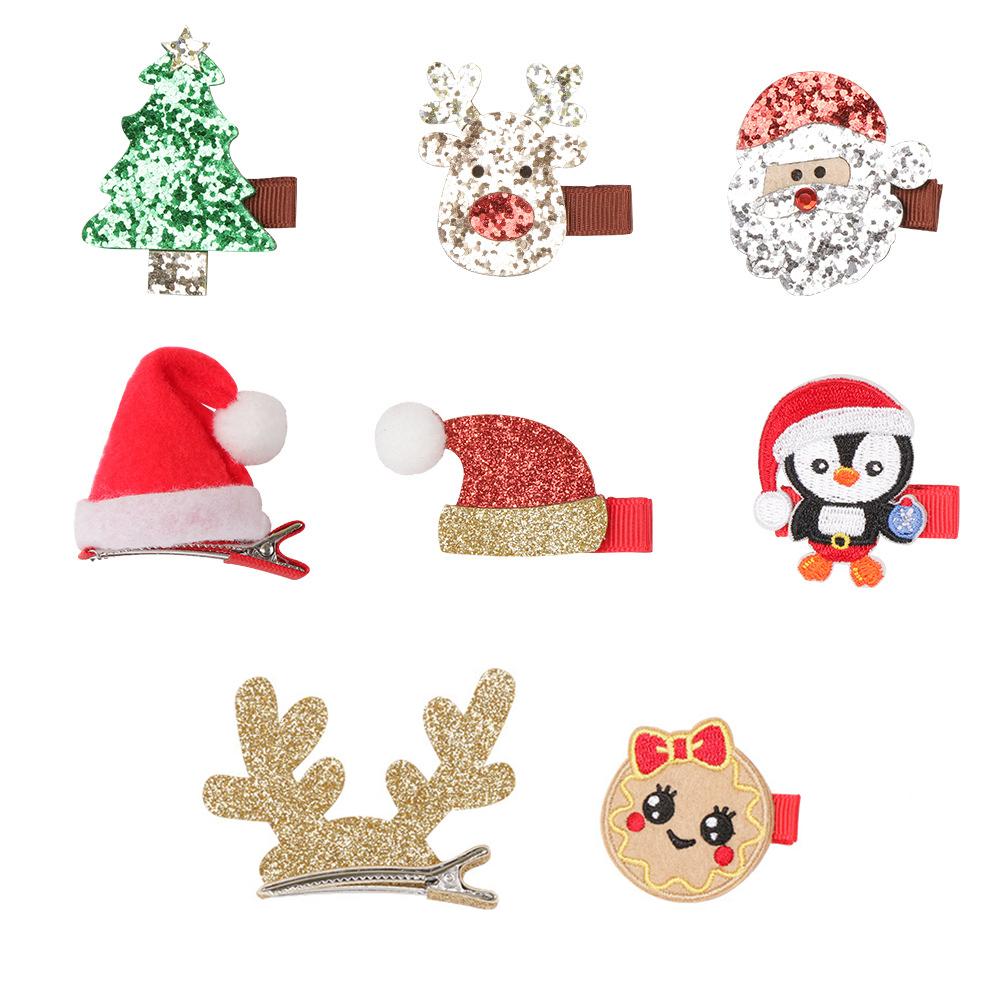 7pcs Christmas Santa Baby  Hairpin