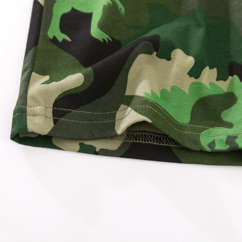 camouflage Fabric Baby and Toddler T-Shirt and Mesh Shorts Set