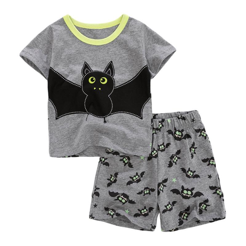 Bat Print Baby Boys T-shirt+ Shorts  Set
