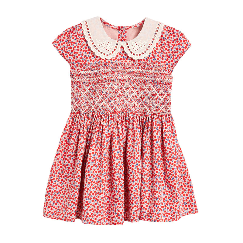 Girls Dress with Cherries Pattern