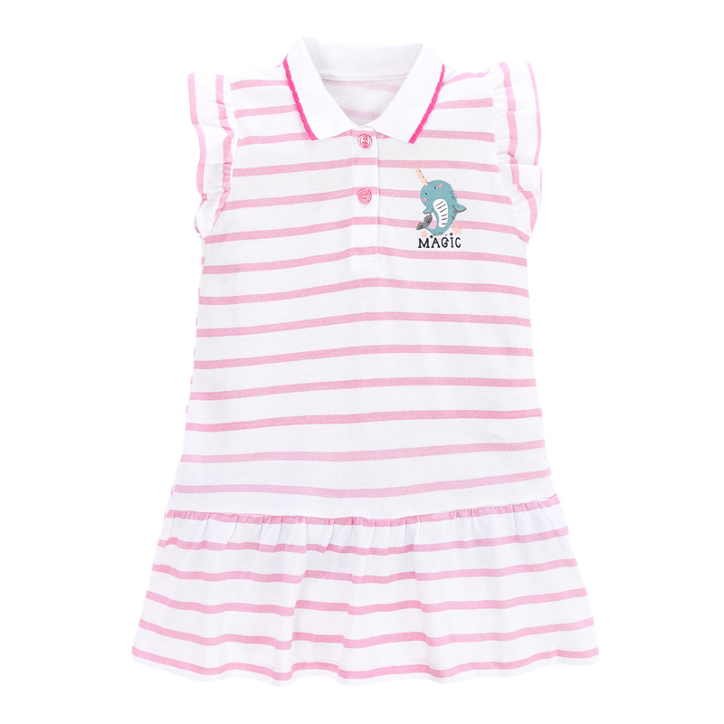 Girls Polo Dress with Dolphin Pattern