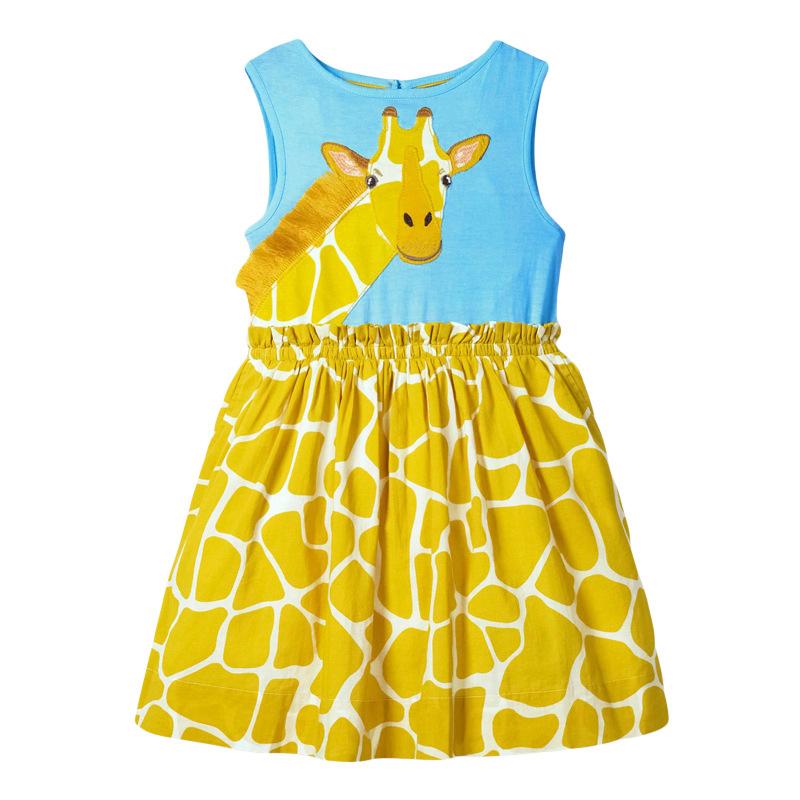 Giraffe Pattern Girl Slicing Dress