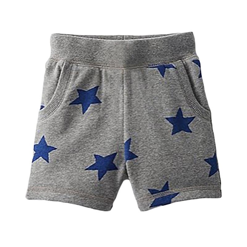 Boy  Grey Shorts with Grey Star Print