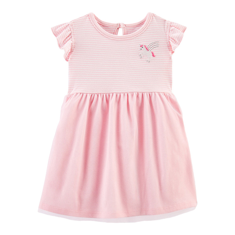 Little Pony Pattern Pink Girls Dress