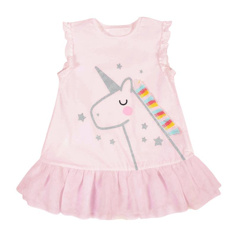 Little Pony Pattern Pink Baby Girls Dress