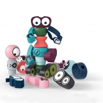 magnetic robots toys are made fo ABS. which is the best toy for kids learning.  it is good for kids to devolope hands-eyes, color recognition,  3D imagination abilities.  it is an educational toy for kids age 1-6 years.