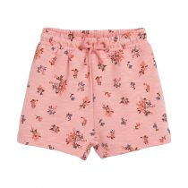 pink girls pants with floral  printe girls can wear in summer day, adjustable waistline