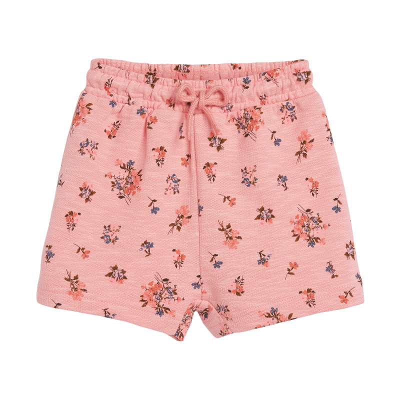 Baby Girls Shorts  with Flowers Pattern Pink
