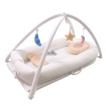 portable baby bed is for infant who sleeps between the parents. it is safe for infant.