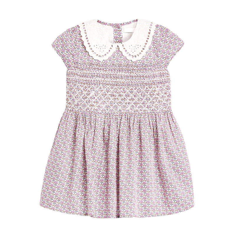 Girls Dress with Floral Pattern
