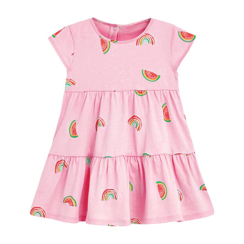 Watermelon Prints Pink Girl Dress