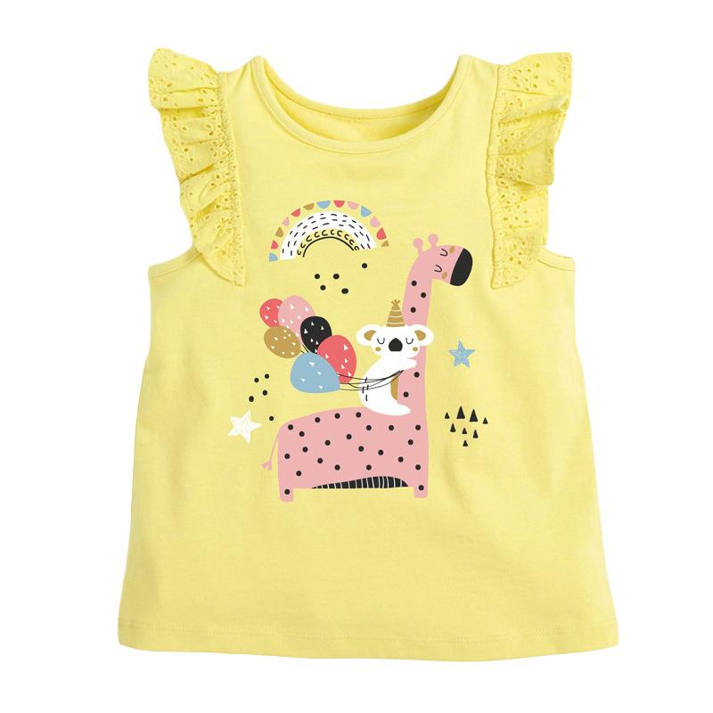 Girls Sleeveless T-shirt Printed Giraffe