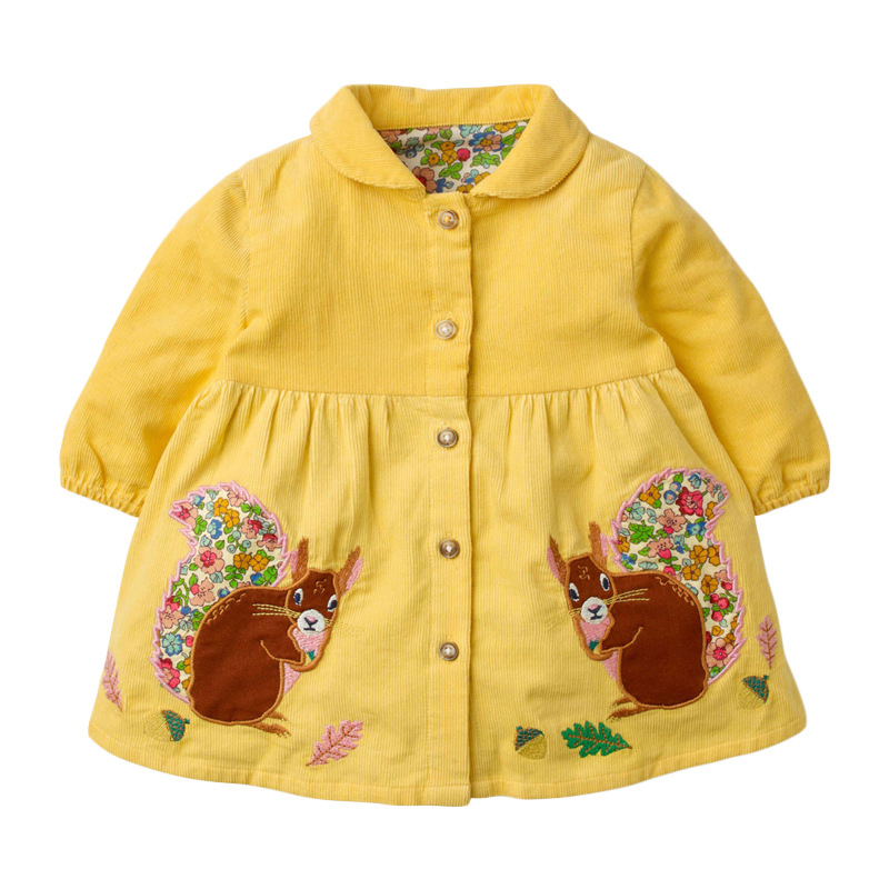 Girls Rabbit Sweater Autumn  Long Sleeve Girls Yellow Sweatshirt