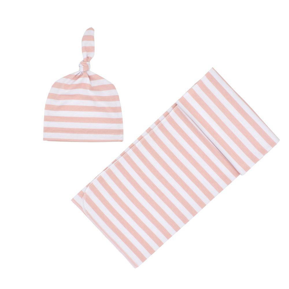 Newborn Baby Striped Swaddle