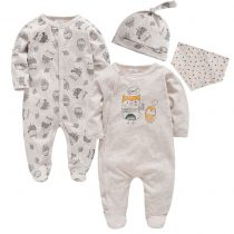 baby solid color rompers in long sleeves can customerize the prints