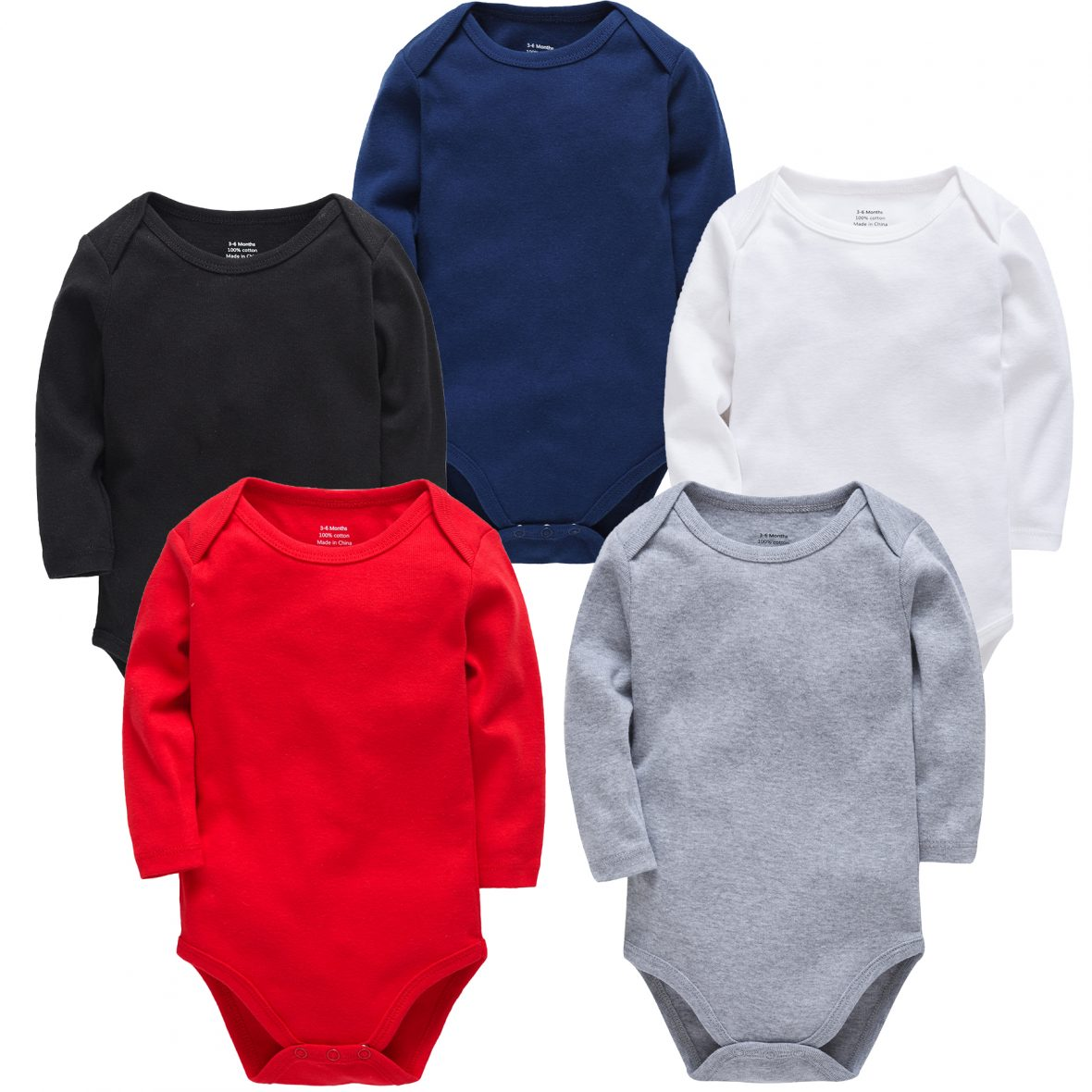 Personalized Baby Boys Bodysuit Long Sleeves