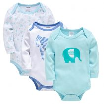 baby solid color bodysuits in long sleeves can customerize the prints