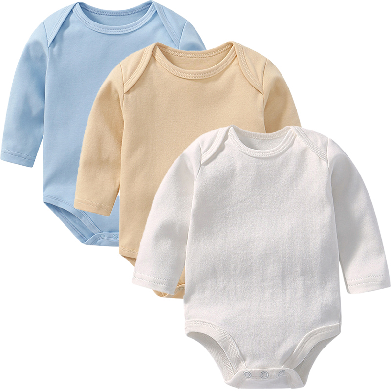 3PCS Customized Baby Boys Long Sleeves Bodysuit in Mint Colors