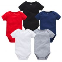 baby solid color bodysuits in short sleeves can customerize the prints