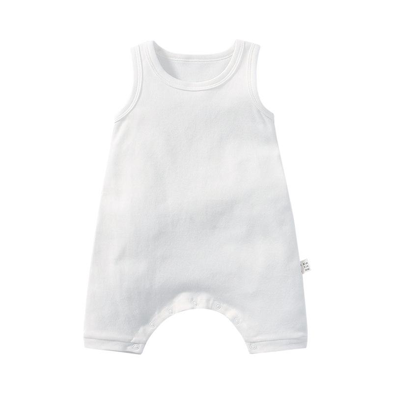Customzied Baby Girls SleevelessWhite Bodysuit