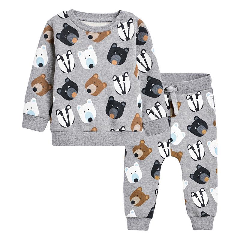 Boys Bear&Fox Outfits Autumn Long-sleeved Boys Suit