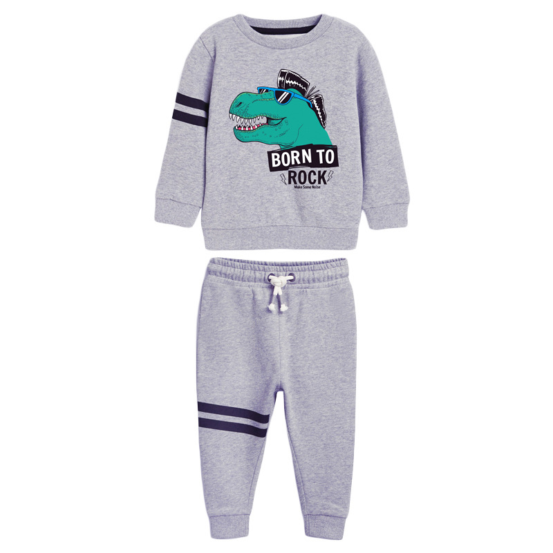 Boys Born to Rock Prints Outfits Autumn Long-sleeved Boys Suit