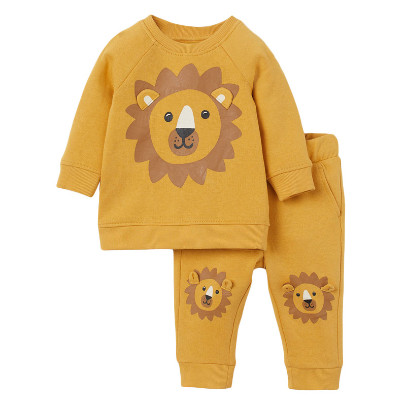 Boys Lion Outfits Autumn Long-sleeved Boys Suit
