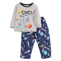 boys outfits for autumn wearing prints cartoon animal in cotton long sleeves