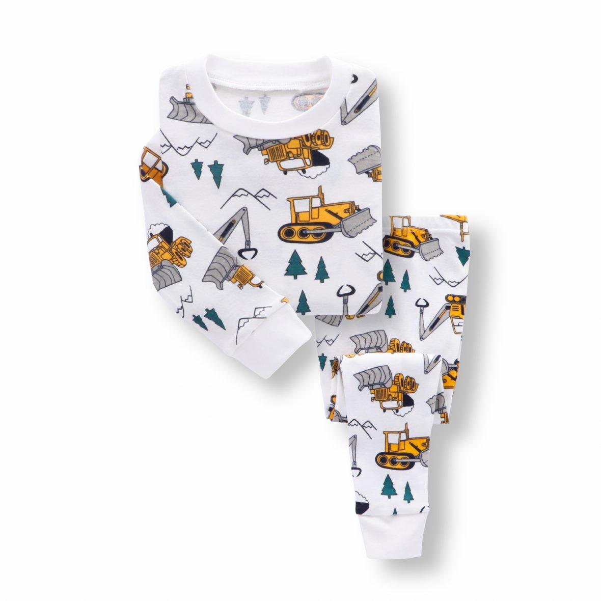 Boys Bulldozer Pajamas