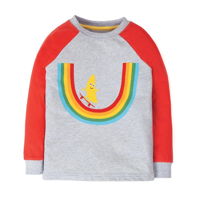 Round Neck Long Sleeve Boy T-shirt