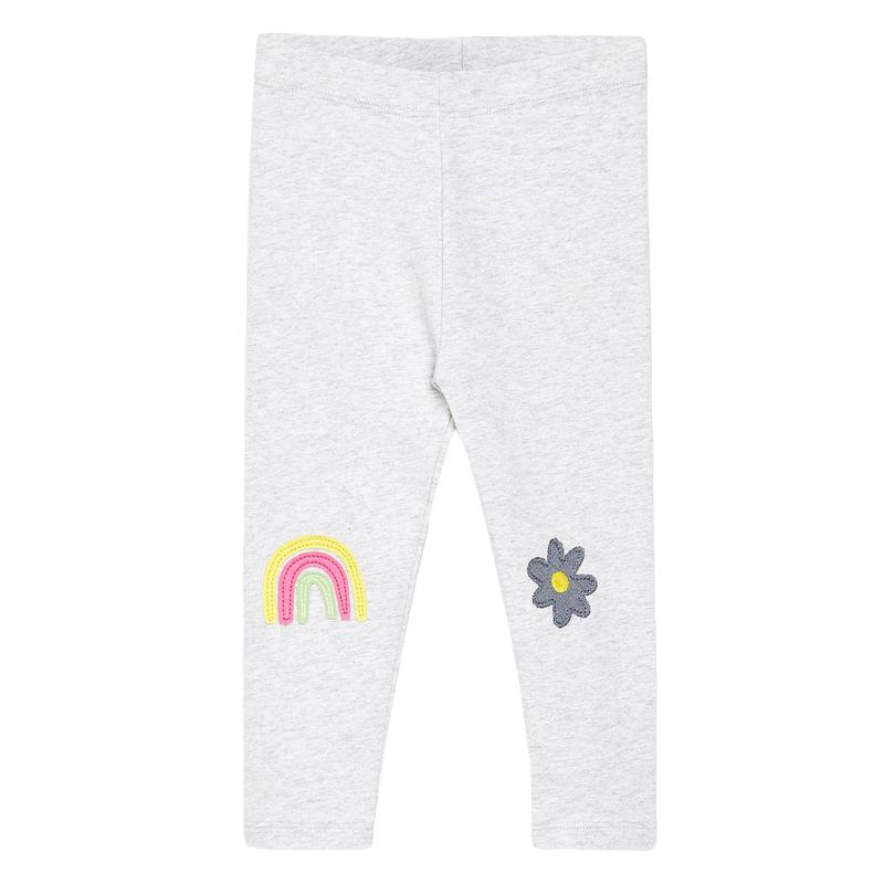 Girls Elastic Trousers Rainbow Printed Autumn Girls Leggings
