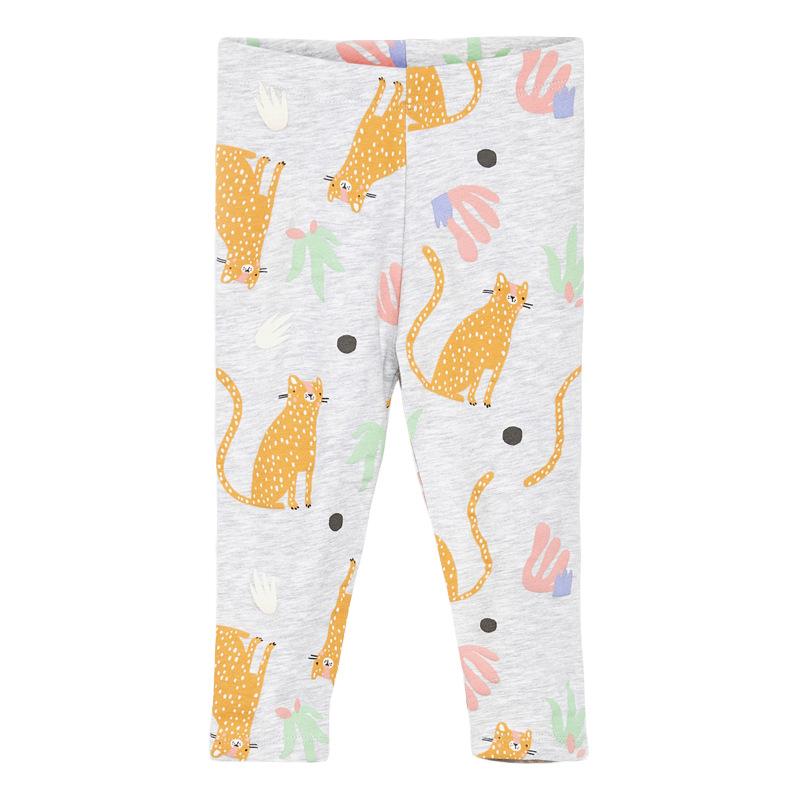 Girls Elastic Trousers Cat Printed Autumn Girls Leggings