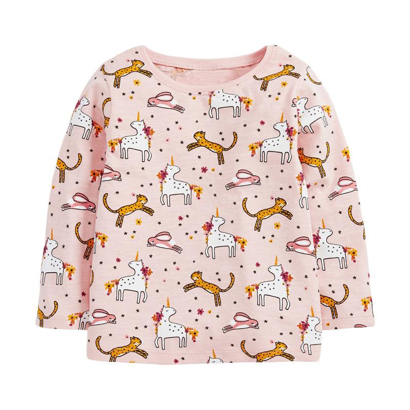 Girls Animal Sweater Autumn Round Neck Long Sleeve Girls Sweatshirt