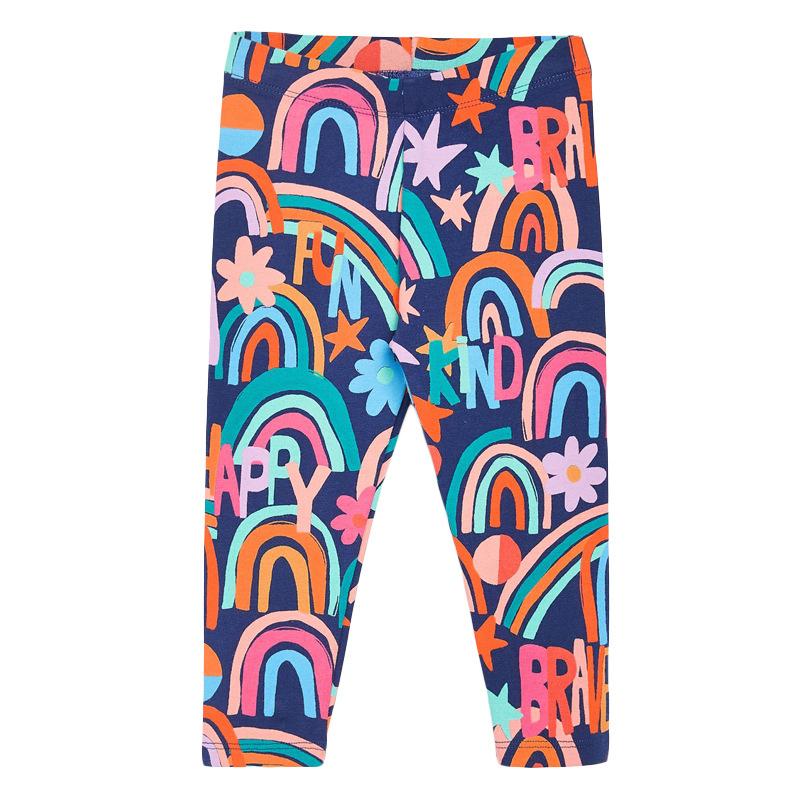 Girls Elastic Trousers Stars Printed Autumn Girls Leggings