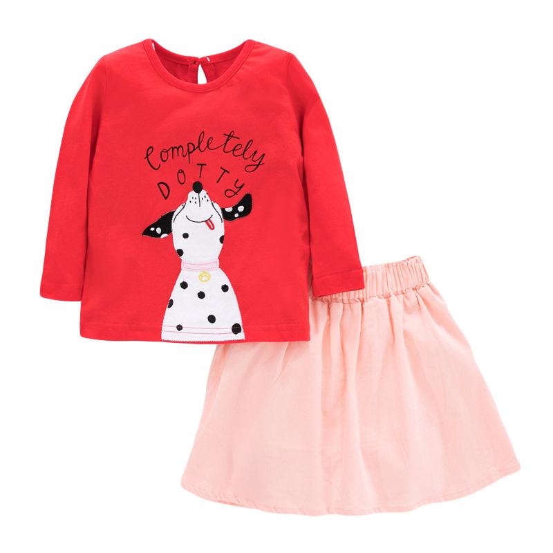 Girls Set Long-sleeved Autumn Children's Little Puppy Suit